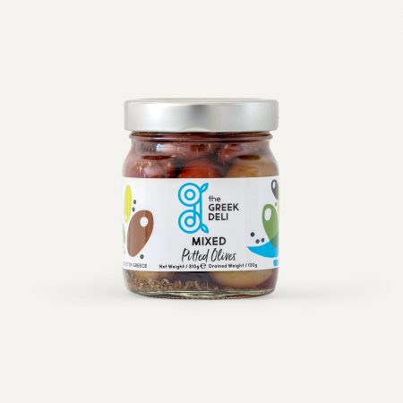 The Greek Deli Mixed Pitted Olives Size Jumbo 310g